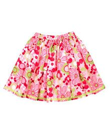 ShopperTree Floral Skirt - Pink