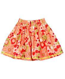 ShopperTree Floral Skirt - Orange