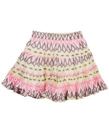 ShopperTree Printed Skirt - Multicolor
