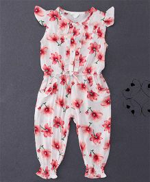 Happiness Flower Printed Jumpsuit - White