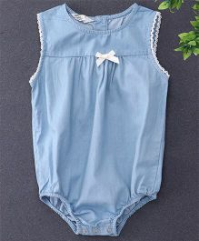 Happiness Denim Onesie - Sky Blue