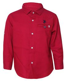 Tales & Stories Full Sleeves Plain Shirt - Red
