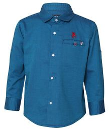Tales & Stories Full Sleeves Plain Shirt - Blue