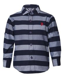 Tales & Stories Full Sleeves Stripes Shirt - Navy Blue Grey