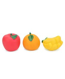 Ratnas Squeaky Bath Toys Fruits Pack Of 3 - Red Orange Yellow