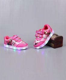 Little Maira LED Cartoon Applique Shoes - Dark Pink