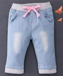 Happiness Washed Denim Pants - Blue & Grey