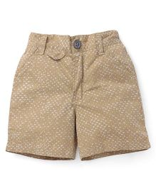 Spark Shorts Printed - Brown