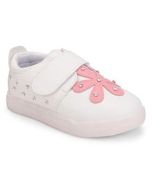 Little Maira LED Flower Detailing Shoes - White