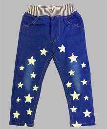 Teddy Guppies Jeans Stars Print - Blue