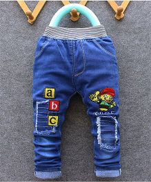 Teddy Guppies Full Length Pull On Jeans - Blue