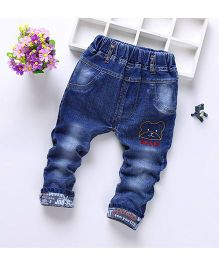 Teddy Guppies Jeans With Teddy Pockets - Blue