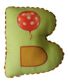 A Little Fable B Alphabet Cushion - Green