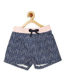 My Lil Berry Printed Pull On Shorts - Navy Blue