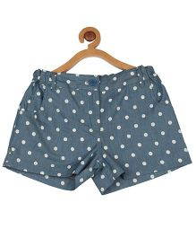 My Lil Berry Polka Dot Denim Shorts - Light Blue