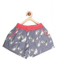My Lil Berry Printed Shorts - Blue