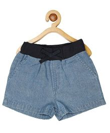 My Lil Berry Denim Pull-On Shorts - Light Blue
