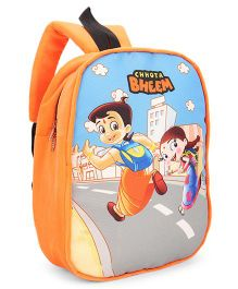 Chhota Bheem Plush School Bag Orange - 12 inches