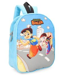 Chhota Bheem Plush School Bag - Sky Blue