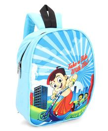 Chhota Bheem Plush School Bag Sky Blue 12 inches