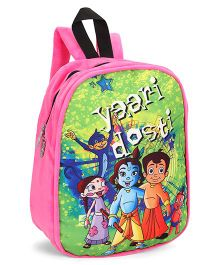 Chhota Bheem Plush School Bag - Pink