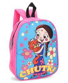 Chhota Bheem Plush School Bag Chutki Design Pink - 12 inches