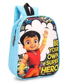 Chhota Bheem Plush School Bag Sky Blue - 12 inches