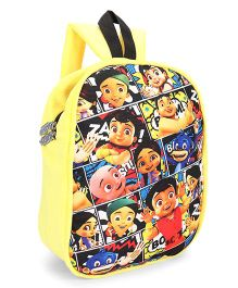 Chhota Bheem Plush School Bag Yellow - 12 inches
