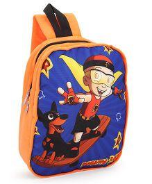 Mighty Raju Plush School Bag Orange - 12 inches