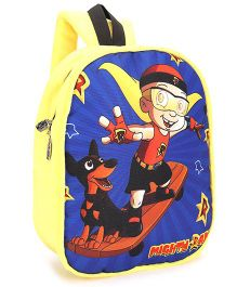 Mighty Raju Plush School Bag Yellow - 12 inches