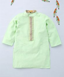 Shruti Jalan Kurta With Thread Embroidery - Pista Green