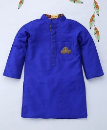 Shruti Jalan Kurta With Zardozi Embroidery - Royal Blue