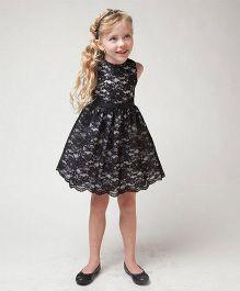 Pre Order - Awabox Lace Dress - Black