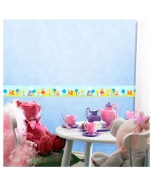 Decofun Winnie The Pooh & Friends Border Wall Sticker - Multi Color