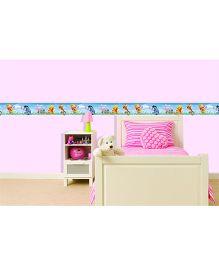 Decofun Winnie The Pooh & Friends Border Wall Sticker - Blue