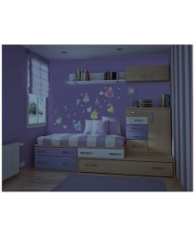 Decofun Disney Princess Glow in Dark Wall Stickers - Blue Pink Yellow