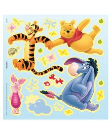 Decofun The Winnie The Pooh Glow in Dark Wall Sticker - Yellow Blue