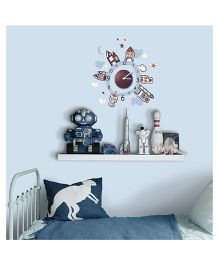 Home Decor Line House Theme Wall Sticker - Multi Color