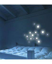 Home Decor Line Glow In Dark Stars Wall Sticker - White