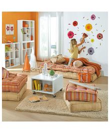 Home Decor Line Gerberas Wall Sticker - Multi Color
