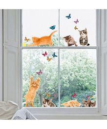 Home Decor Line Kitty Wall Sticker - Multi Color