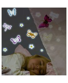 Home Decor Line Glow In Dark Butterfly Wall Sticker - Multi Color