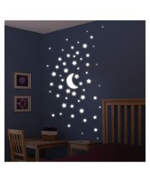 Home Decor Line Stars Wall Decal - White
