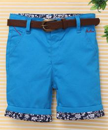 Beeborn With Belt Shorts - Sky Blue