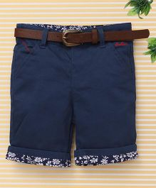 Beeborn With Belt Shorts - Navy Blue
