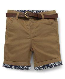 Beeborn With Belt Shorts - Khaki
