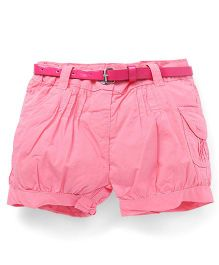 Bee Born Trendy Shorts with Belt - Light Pink