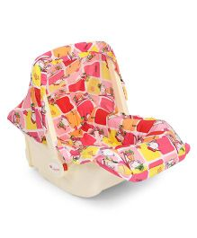 Infanto Carry Cot Cum Rocker Love Print - Pink