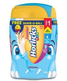 Horlicks Junior Original Flavour Stage 1 Jar With Free Shape O Ball  - 500 gm
