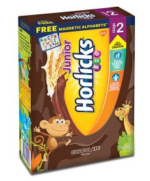 Junior Horlicks Stage 2 Chocolate Flavor Refill Pack With Free Magnetic Alphabets - 500 gm